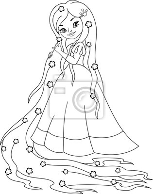 Prinzessin rapunzel färbung seite fototapete • fototapeten ...