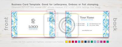 Professionelle Visitenkarten Design Vorlage Gravierte Rose