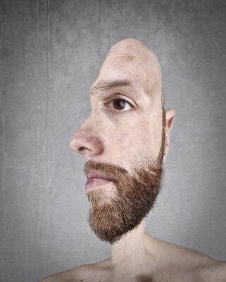 Fototapete Profil und Front