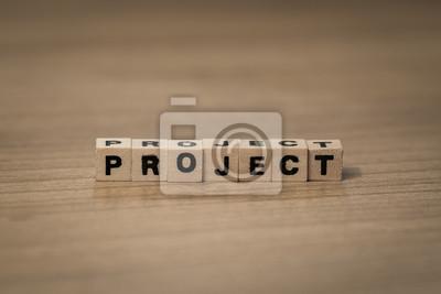 Projekt in Holzwürfel