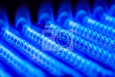 Propanflamme im gaskesselofen fototapete • fototapeten Butan ...