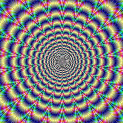 Fototapete Psychedelic Pulse