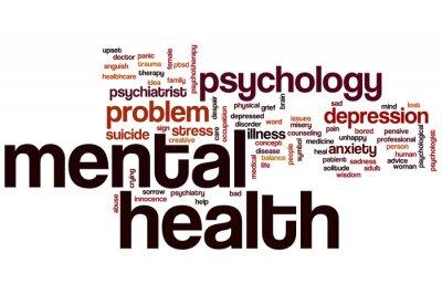 Fototapete Psychische Gesundheit Wortwolke