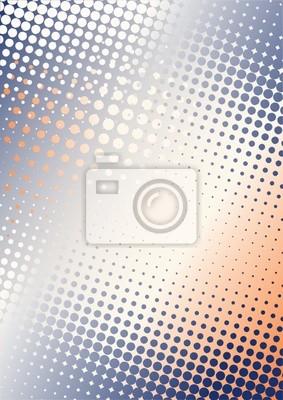 Punkte Hintergrund B blau-orange
