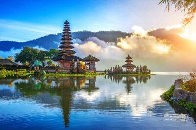 Fototapete Pura ulun danu bratan Tempel in Bali, Indonesien.