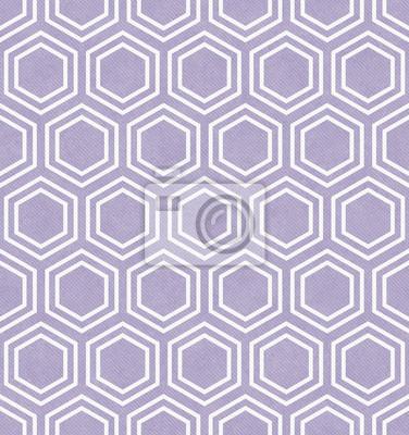 Fototapete Purpurrotes Und Weißes Sechseck Fliesen Muster Wiederholen  Hintergrund