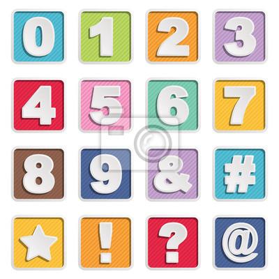 Quadratzahl Symbolen