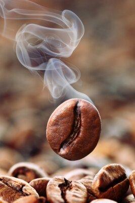 Fototapete Qualmende Kaffeebohne