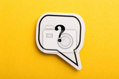 Fototapete Question Mark Speech Bubble