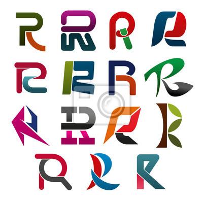 R-Brief-Symbol für Corporate Identity-Schriftart