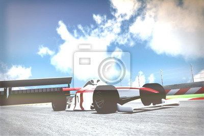 Fototapete Race Car on Track