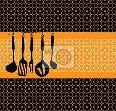 Rack von Küchenutensilien Abbildung
