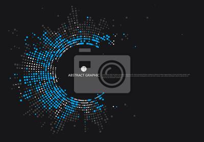 Fototapete Radial Gitter Grafik Design, abstrakten Hintergrund.