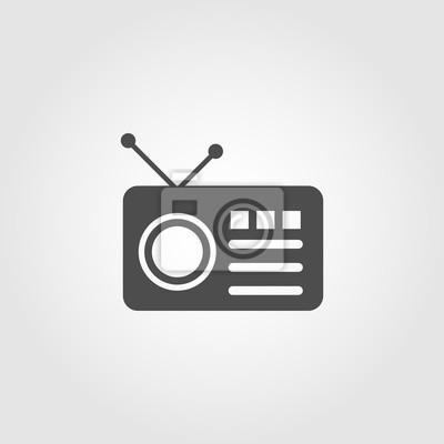 Radio mit antennensymbol für apps und webseiten fototapete ...