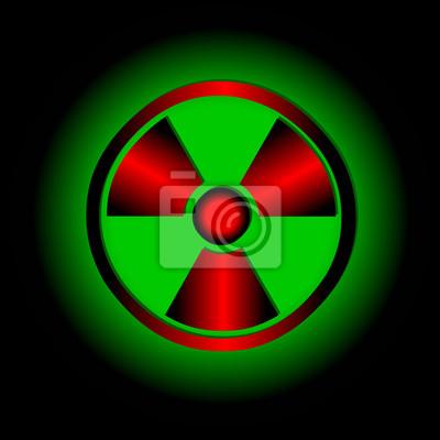 Radioaktive Symbol. Vector-Symbol.