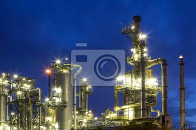 Raffinerie bei Nacht