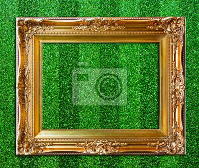 Fototapete Rahmen auf dem Rasen.