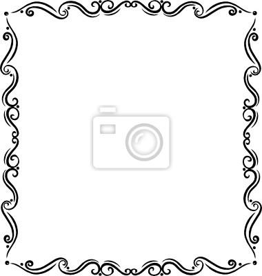 rahmen floral ornament filigran tattoo style fototapete fototapeten wirbeln ranke tribal. Black Bedroom Furniture Sets. Home Design Ideas