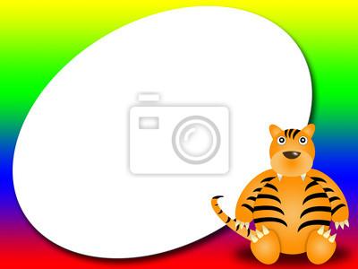 Rahmen oder das Gästebuch mit Tiger - Photo Frame oder eine Nachricht
