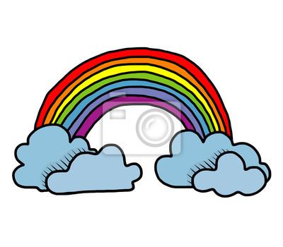 Fototapete rainbow and cloud