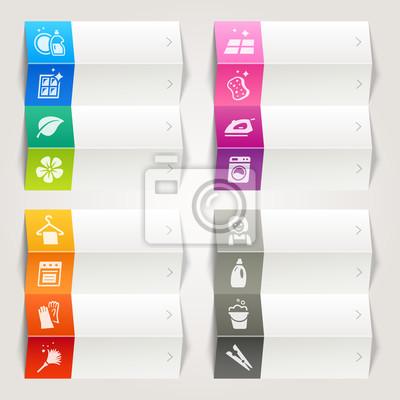 Rainbow - reinigung und haushalt icons / navigation vorlage ...
