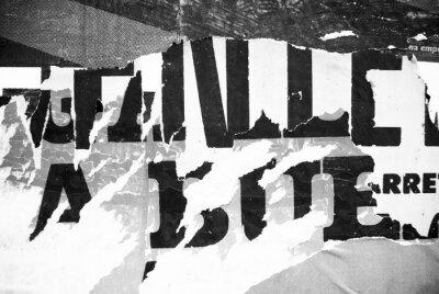 Fototapete Random Hintergrund Collage Papier Typografie Textur an der Wand