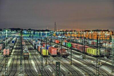 Fototapete Rangierbahnhof
