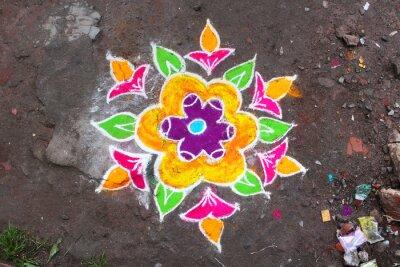 Fototapete Rangoli / Munnar (Kerala / Inde