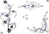 rahmen floral ornament filigran tattoo style. Black Bedroom Furniture Sets. Home Design Ideas