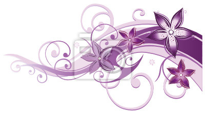 Fototapete wohnzimmer lila  Ranke, flora, blumen, blüten, filigran, lila, violett, rosa ...
