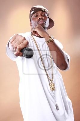 Rapper Haltung eines jungen afroamerikanischen