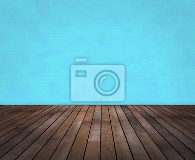 Raum Mit Holzboden Und Wand In Wischtechnik Fototapete Fototapeten