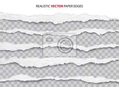 Fototapete realistic torn paper edges vector