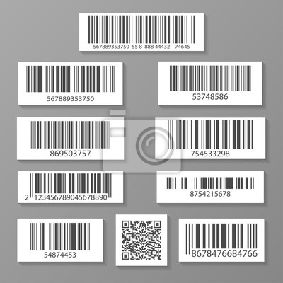Realistische barcode-icon-set isoliert vektor-illustration ...