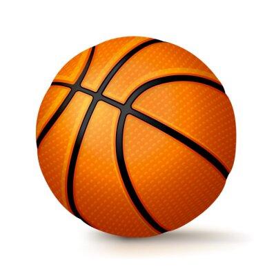 Realistische Basketball isoliert auf weißem Hintergrund Illustration