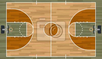 Realistische Basketballplatz Illustration