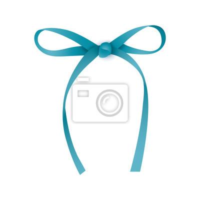 Realistische blaue Geschenkband