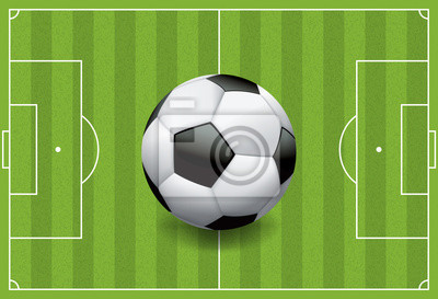 Realistische Fußball - Fußball auf strukturiertem Feld