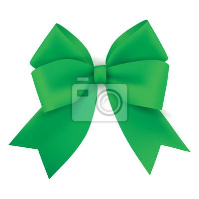 Realistische grüne Geschenkband