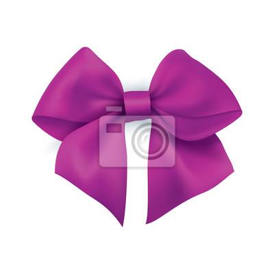 Realistische lila Geschenkband