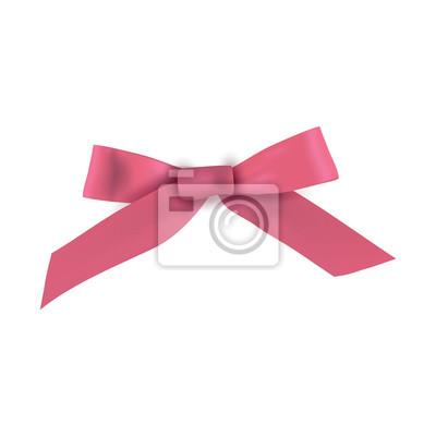 Realistische rosa Geschenkband