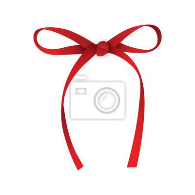 Realistische rote Geschenkband