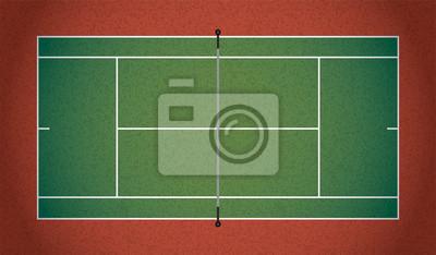 Realistische Textured Tennisplatz Illustration