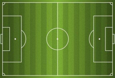 Realistische Vektor-Fußball - Fußball-Feld
