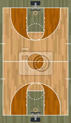 Realistische Vertikale Basketballplatz Illustration
