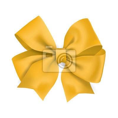 Realistisches gelbes Geschenkband