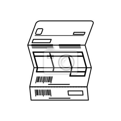 Rechnungsblatt dokument icon vektor-illustration grafik-design ...
