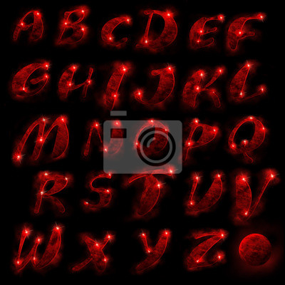 Red Alphabet, Set