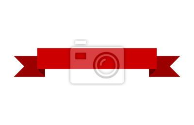 Fototapete Red Bannerband flachen Vektor-Design für Druck und Websites