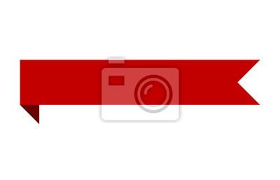 Fototapete Red Bannerband Streifen mit Bend flachen Design für Print und Websites